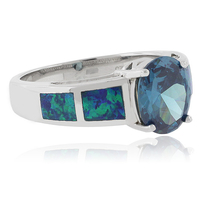 Color Change Alexandrite Opal Silver Ring