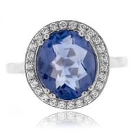Corundum Alexandrite Color Change Silver Ring