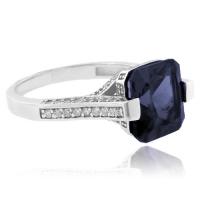 Cushion Cut Color Change Alexandrite .925 Silver Ring