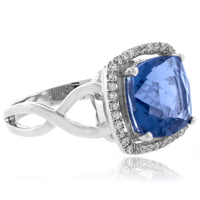 Cushion Cut Alexandrite Sterling Silver 925 Ring