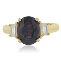 Oval Cut Mexican Fire Cherry Opal Silver Ring .925