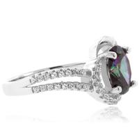 Mystic Topaz Fashion Sterling Silver Ring