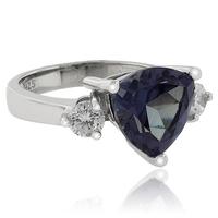 Trillion Cut Color Change Alexandrite .925 Silver Ring