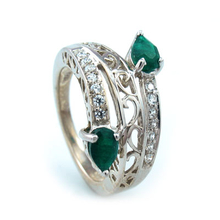Emerald Quartz Silver Ring