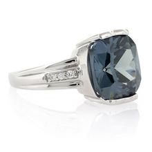 Cushion Cut Sterling Silver Alexandrite Ring