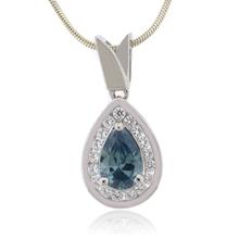 Pear Cut Alexandrite Sterling Silver Pendant