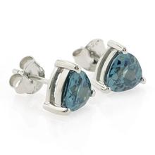 Trillion Cut Alexandrite Silver Earrings