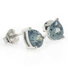 Pear Cut Alexandrite Silver Earrings