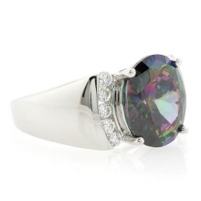 Caribbean Topaz Sterling Silver Ring