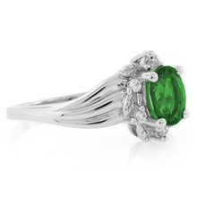 Oval Cut Emerald Solitaire Ring