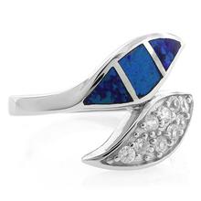 Leaf Shape Opal Sterling Silver Ring
