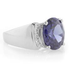Oval Cut Huge Tanzanite Sterling Silver Ring
