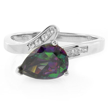Sterling Silver Solitaire Mystic Topaz Ring