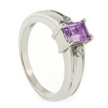 Alexandrite Blue to Purple Color Change Ring