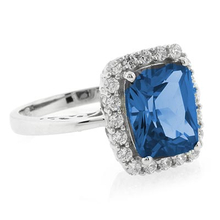 High Quality Blue Topaz Sterling Silver Ring