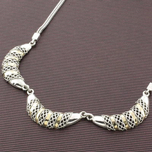 Hand Made Silver and 14K Gold Necklace