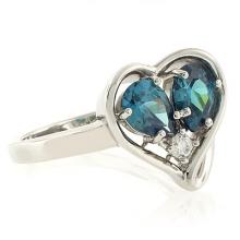 Alexandrite Ring Heart Shape