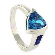 Elegant Blue Topaz Opal Ring