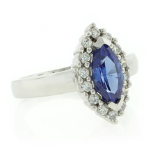 Silver Marquise Cut Tanzanite Ring