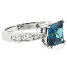 Alexandrite Engagement Sterling Silver Ring