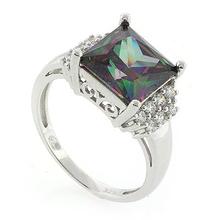 Mystic Topaz Stone Sterling Silver Ring