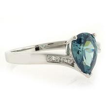 Alexandrite Pear Cut Stone Silver Ring