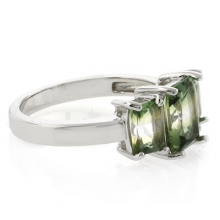 3 Stone Tourmaline Watermelon Ring