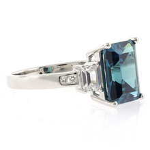 Alexandrite 14k Gold Blue to Green Color Change Emerald Cut Ring