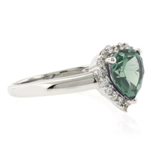 Heart Shape Alexandrite Silver Ring