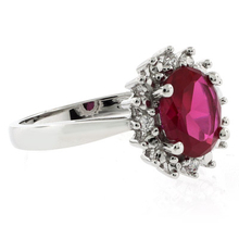 Red Ruby Princess Kate Style Ring
