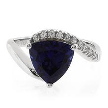 Trillion Cut Big Sapphire Ring