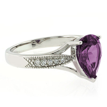 Big Pear Cut Color Changing Alexandrite Ring