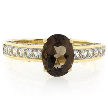 Solitaire Smoky Topaz Sterling Silver Ring