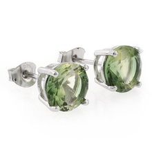 Round Cut Tourmaline Stud Earrings