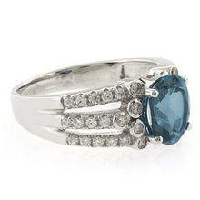 Beautiful Oval Cut Alexandrite Color Changing Unisex Silver Ring