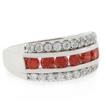 Fire Opal Ring Channel Setting