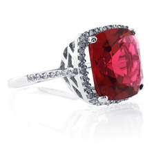 Sterling Silver Cushion Cut Pink Garnet Ring