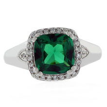 Elegant Cushion Cut Emerald Ring