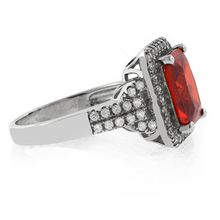 Emerald Cut High Quality Fire Opal Ring