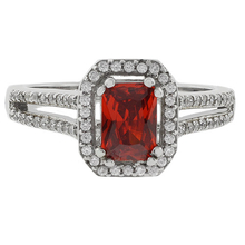 Fire Opal Micropave Ring