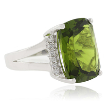 Very Big Peridot Silver Ring
