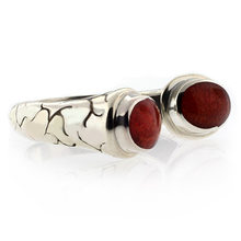Vintage Red Coral Sterling Silver Ring