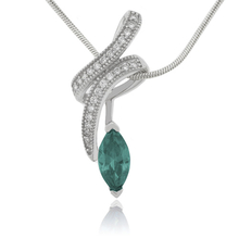 Marquise Cut Alexandrite Sterling Silver 925 Pendant