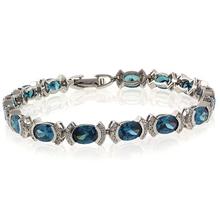 Alexandrite Oval Cut Stone Bracelet