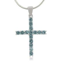 Alexandrite Blue to Green Color Change Cross Pendant