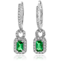 High Quality Emerald Silver Earrings