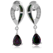 Opal with Mystic Topaz Sterling Silver Earrings
