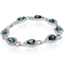 Alexandrite Bracelet Pear Cut Stone Sterling Silver