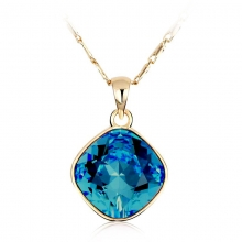 Royal Blue Swarovski Elements 18K Yellow Gold Plated Necklace