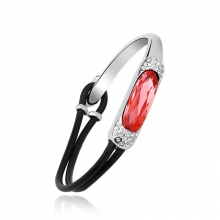 Swarovski Elements 18K White Gold Plated Red Bracelet